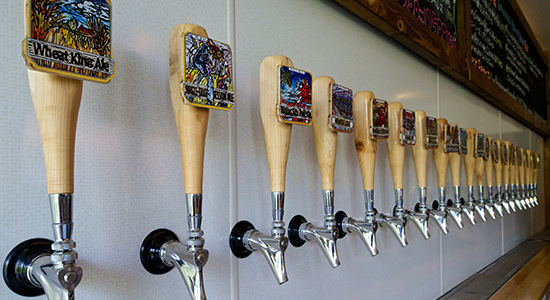 craft beer taps at the hakuba taproom