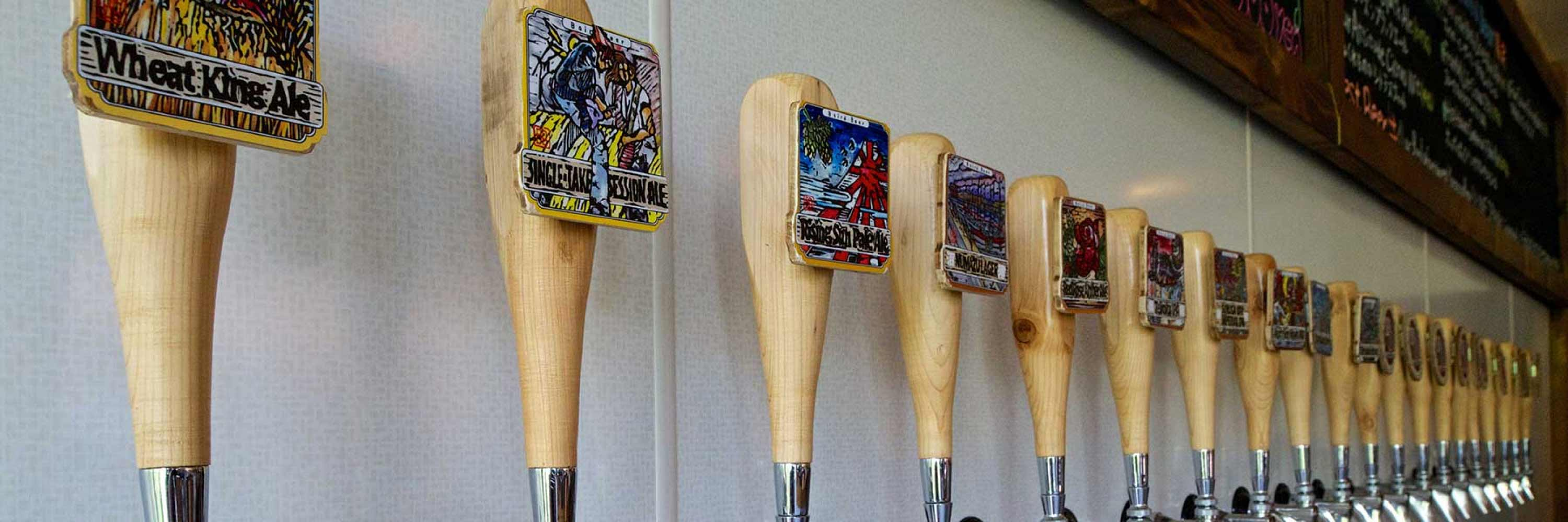 a range of incredible craft beers at the hakuba taproom
