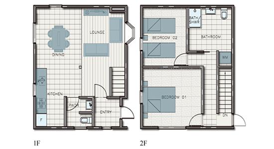 hakuba echoland chalets - deluxe - floor plan