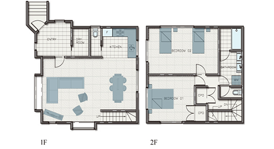 hakuba echoland chalets - luxury - floor plan