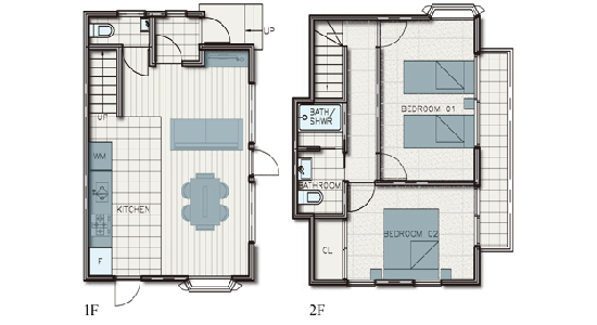 hakuba echoland chalets - standard - floor plan