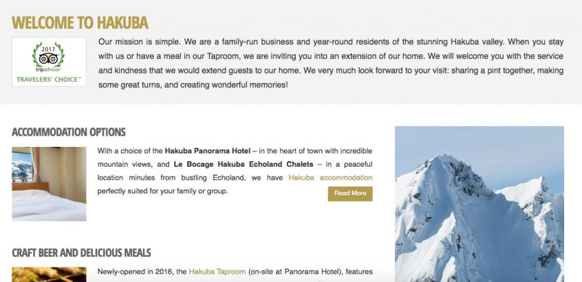 tengu properties website screenshot